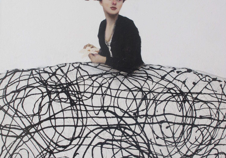 "Menina Blanco y Negro | Alfredo Palmero | Oil | 36 x 29"""