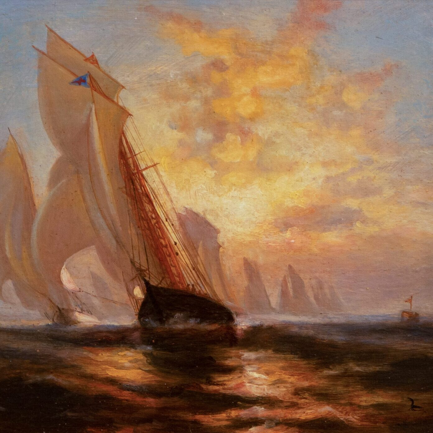 """Madeline"" 1876 America's Cup Defender (After Edward Moran) (MKE)"
