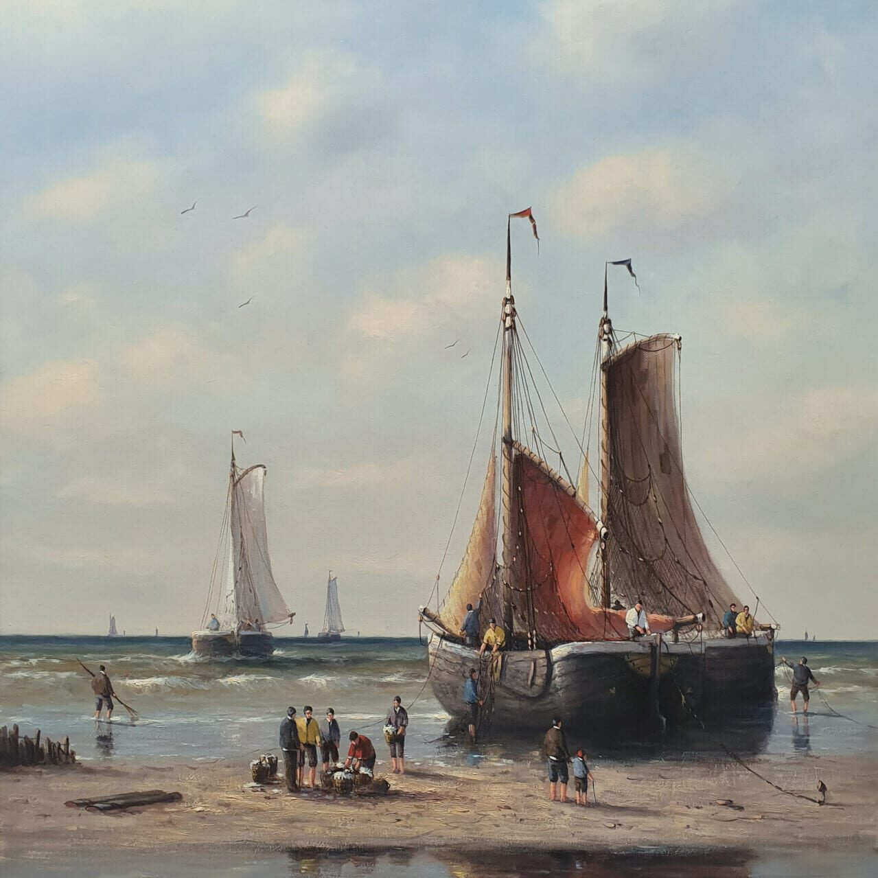 Simon Balyon - Hard Working on the Dutch Coastline